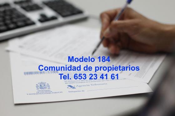 Modelo 184 – Comunidad de propietarios